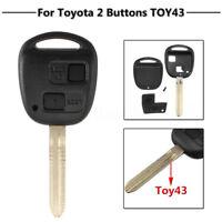 2 Button Remote Key Case Fob & Blade Toy43 For Toyota Camry Celica Colorado RAV4