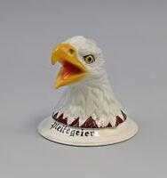 "9959228 Ens E.Bohne PorzellanBriefbeschwerer Weißkopfadler ""Pleitegeier"" 11x11cm"