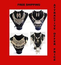 1 LOT-VINTAGE STYLE ARTISAN HANDCRAFTED NECKLACE KUCHI BELLY DANCE TRIBAL NEW