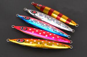 3PCS Glow Fishing Deep sea Metal Slow Jig Jigging Jigbait Spoon baits 200g 250g