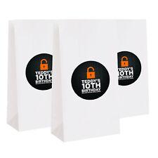 12 Escape Room Party Puzzle Maze Favors Personalized Treat Bag Stickers