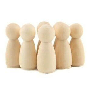 10 Pcs Wooden Peg Dolls Maple Unpainted DIY Unfinished Weddings Cake dolls Decor