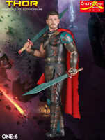 """Crazy Toys 12"""" Thor 1/6TH SCALE COLLECTIBLE FIGURE Boxed"""