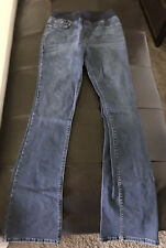 Boston Proper Womens Jeans Sz 6 Stretch Elastic Waist Straight Leg Pull On