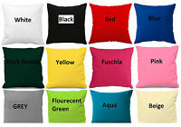 "Plain Cotton Cushion Cover 10"" to 24"" Sizes Available * More than 25 colours"