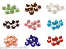 2*8x13mm agujero grande perlas gatos ojo beads joyas fabricación abalorios