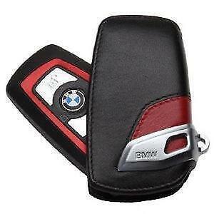 NEW OEM Genuine BMW Key Fob Holder Bag Cover Case Sport line RED 1-7 Series X3