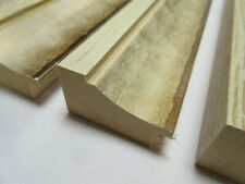 2.5m Bundle (34cm&48cm) of 48mm Cream/Gold Wooden Picture Frame Moulding