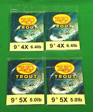 New listing Rio Trout Tapered Fly Fishing Leaders 4 – New Lot with Loop 9 F
