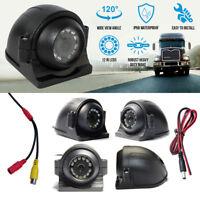 9-36V Rca 12 IR LED Night Vision Car Van Bus Side View CCD HD Camera Kit
