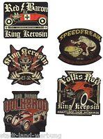 33 King Kerosin Set Red Baron Aufkleber/Sticker/Rockabilly/Hot Rod/Oldschool/V8