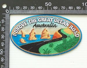 VINTAGE GREAT OCEAN ROAD VICTORIA EMBROIDERED SOUVENIR WOVEN CLOTH SEW-ON BADGE