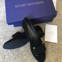 BRAND NEW - Stuart Weitzman Bow Flat/Loafer Black Suede SIZE 7 women