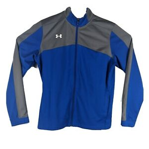 UNDER ARMOUR Womens Blue and Gray Track Jacket Size M Medium Full Zip