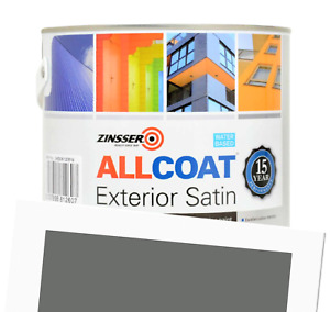Zinsser Allcoat Exterior 15 Year Protection WB Tintable Grey RAL 7005 Satin 1L