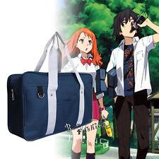 Navy Blue Japanese Uniform School Shoulder Bookbag Bag Anime Cosplay Costume