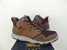 TEVA BROWN ARROWOOD MID WP LEATHER SNEAKER BOOTS, MEN US 12/ EUR 45.5 ~NEW