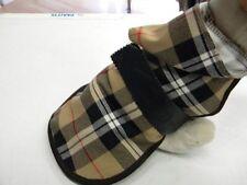 manteau chien ecossais tartan marron beige rouge creation toutou dos 35/40 cm