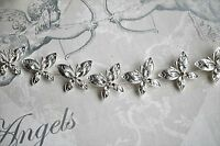 Bridal Bridesmaid Prom - Silver Butterfly Crystal Hair Vine **NEW IN**