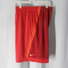 NIKE Swim Shorts Trunks XL red slip on elastic waist NWT