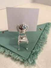 4 Silver Chair Place-Card Holders Party Wedding Vintage Style Chair Metal NIB