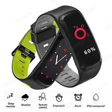 Heart Rate Blood Pressure Smart Watch Bracelet Wristband IP68 Waterproof Fitness
