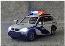 1:32 BMW Police Car Die Cast Model Toy Car With Light & Sound