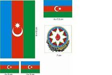 Aufkleberbogen Aserbaidschan Aufkleber Set Flagge Fahne