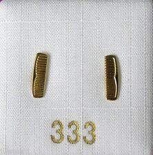 1 Paar Ohrstecker Kamm 333 Gold