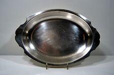 GRAND PLAT CREUX métal blanc argté FELIX Frères TOULOUSE 43X29cm