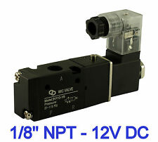 Pneumatic 3 Way Electric Directional Control Air Solenoid Valve 12V DC 1/8 Inch