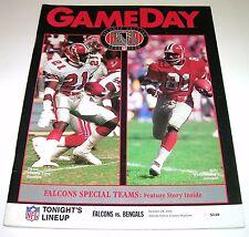 1990 CINCINNATI BENGALS v ATLANTA FALCONS NFL PROGRAM EX condition Free Shipping