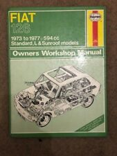 HAYNES Fiat 126 1973-1977 WORKSHOP MANUAL Standard, L & Sunroof Models
