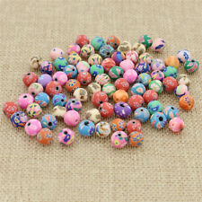 100pcs/lot 8mm Colors Ball Round Fimo Polymer Clay Ceramic Spacer Loose Beads