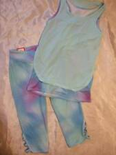 NWT ~ So green blue double-layer sport tank top & tie-dye capri pants ~ girls 12
