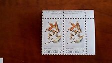 Canada 1971 #538 7c Winter Maples Leaves in Four Seasons block of 2 single Mnh