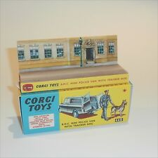 Corgi Toys  448 Morris Mini Police Van empty Reproduction Box