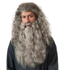GANDALF DELUXE Wig Beard set the HOBBIT LOTR Wizard costume old man Adult NEW