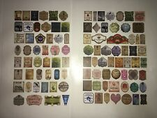 """99 Stickers 1"""" Tall Small Potion Bottle Labels 1/6 Doll Scale Harry Potter"""