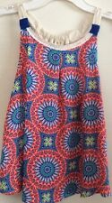 Rewind<< Girls, summer top, size Large, Coral Print