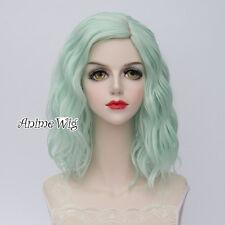 35CM Harajuku Women Light Green Lolita Curly Hair Cosplay Wig Heat Resistant