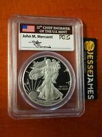 2013 W PROOF SILVER EAGLE PCGS PR69 DCAM FLAG MERCANTI SIGNED LABEL