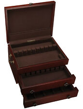 New listing Reed & Barton Silver Chest Mahogany Finish, Brand New in Box, 2 Drawer