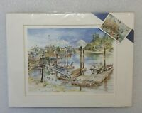 SARAH CLEMENTSON YAEGER #147 Matted LIMITED Water Color Print 1999 Bainbridge Is