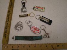 LOT OF 8 Vintage Keychains Elephant Carol Mercedes Benz Ford Toyota Paris GM