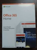 New Microsoft Office Home 365 1 Year 6 User New or Renew for Windows & MAC