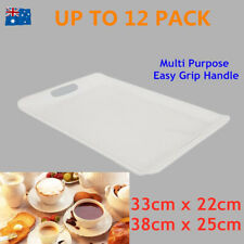 Plastic Serving Tray Easy Grip Handle Food Platter Wedding Party Multi Functions