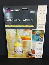 Avery Printable Arched Labels Linen Textured White 20pk (982510)