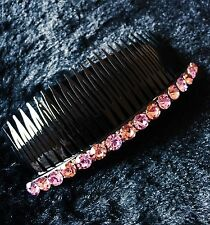 QUALITY Hair Comb using Swarovski Crystal Hairpin Party Fashion Purple Long