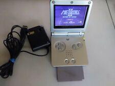 Vintage Nintendo GameBoy Advance SP Silver Handheld GBA